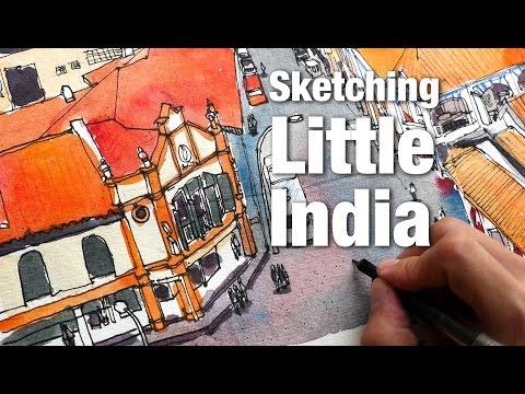 Little India Sketch Timelapse (19 Jun 2016) (4K)