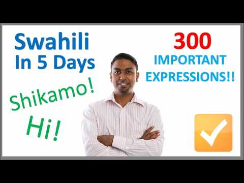 Learn Swahili in 5 Days - Conversation for Beginners