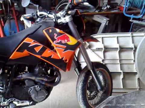 ktm 640 lc4 full akrapovic + keihin + cams f1 - youtube