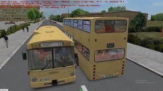 Omsi 2 tour (1628) 德國 (1991-1994) Berlin linie 137 Heerstr Stadtgrenze - Falkensee @ MAN SD200
