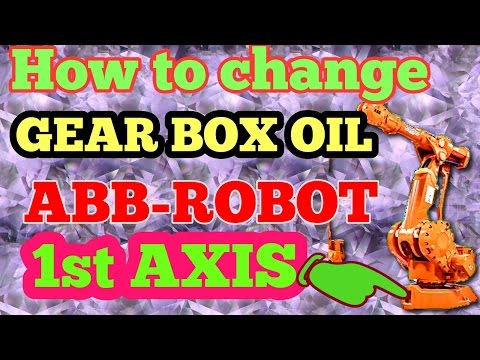 How to change gear box oil of ABB Robot 1st Axis/ on the job video/English