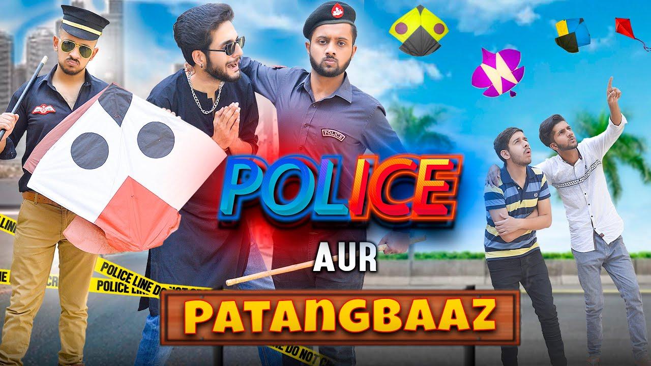 Police aur PatangBaaz   Police Raid Kite flying   Basant funny video   MAKAR SANKRANTI   PatangBaazi