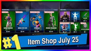 Fortnite Item Shop World Cup and Guan Yu Skins! July 25th, 2019 (Fortnite Battle Royale)
