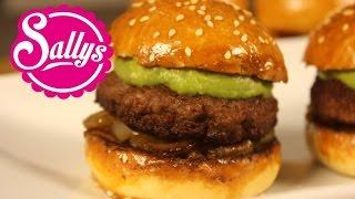 Mini Burger mit Lammfleisch und Guacamole / Rezept für den Superbowl / Karneval