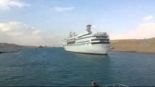 أول فيديو عن قرب لأكبر فندق عائم بقناة السويس الجديدة 6أبريل 2015