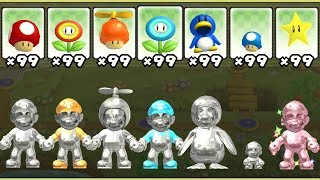 New Super Mario Bros. Wii - All Metal Power-Ups