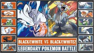 Legendary Pokémon Battle | BLACK&WHITE LEGENDS vs BLACK2&WHITE2 LEGNEDS!