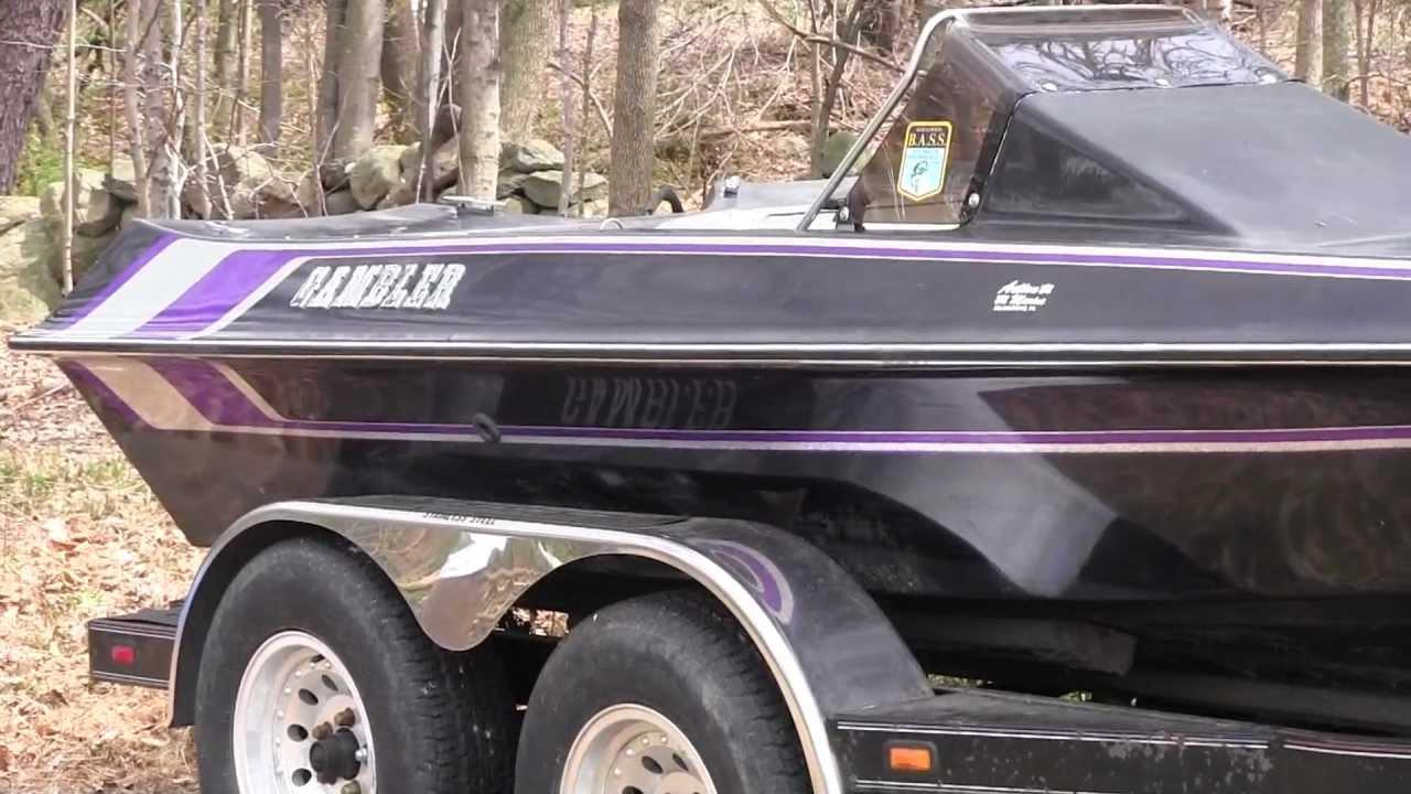 1993 Gambler Intimidator Bass Boat - YouTube