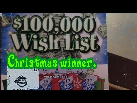New $100,000 Wish List. PA LOTTERY CHRISTMAS SCRATCH TICKETS