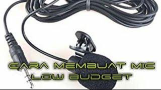 cara membuat mic dari headset bekas [low budget #9]