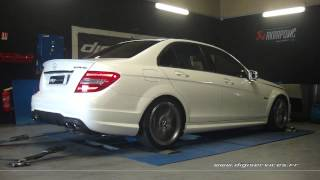 Mercedes c 63 amg 457cv Auto Reprogrammation Moteur @ 482cv Digiservices Paris 77 Dyno