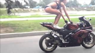 Sexi Ve Bikinili Kız Motor Sürerse ?? İZLEYİN! HD