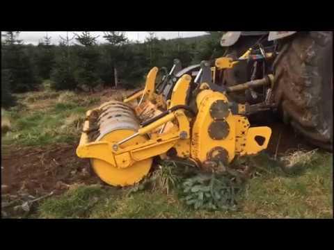 MeriCrusher MJH removing Christmas tree plantation