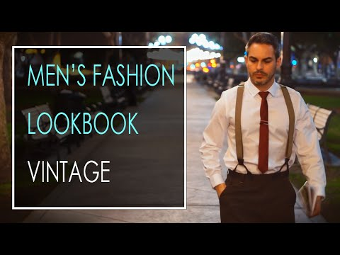 6dbb7baec8 Vintage Clothing - Suspenders for Men Lookbook 2016 - YouTube