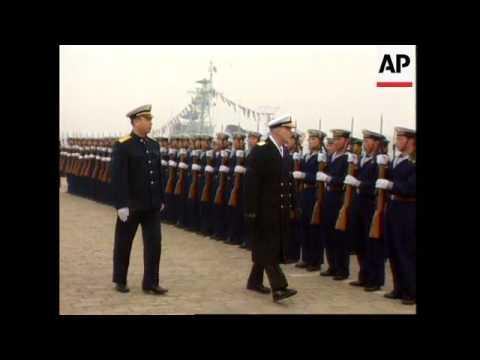 China - US Battle Cruiser Sails Into Qingdao