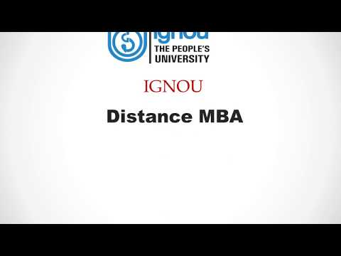 IGNOU Distance MBA Education