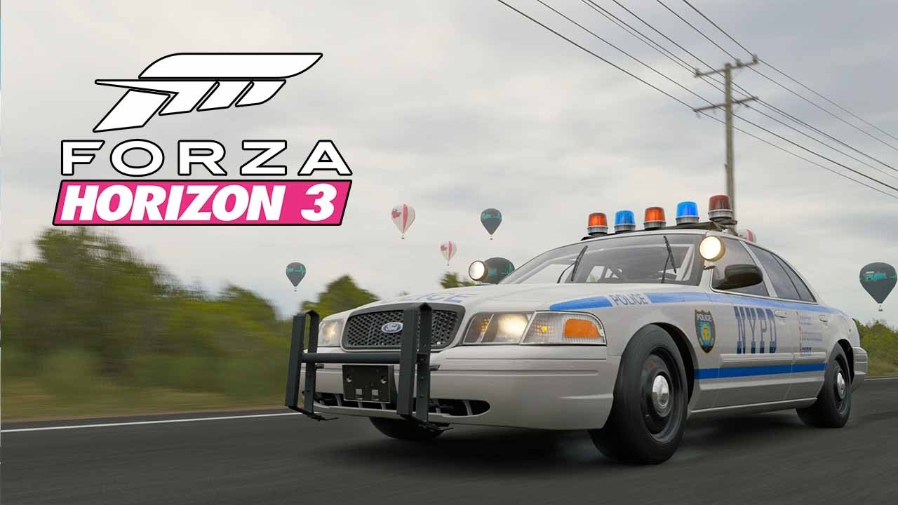 forza horizon 3 ford crown victoria police interceptor 1 000hp police car car. Black Bedroom Furniture Sets. Home Design Ideas