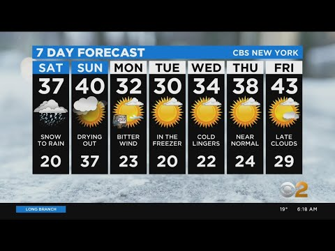 New York Weather: 1/18 Saturday Morning Foreacst