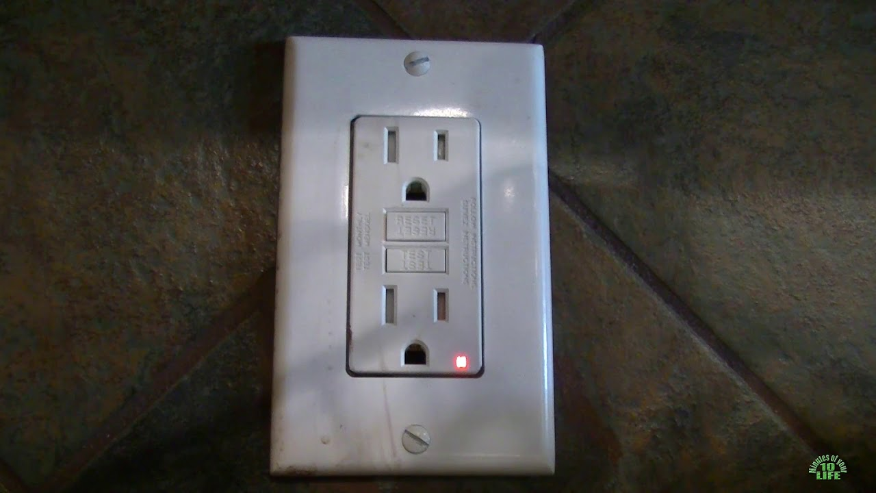 10 Minutes Of Your Life Watching A Bad Gfci Outlet Red Blinking