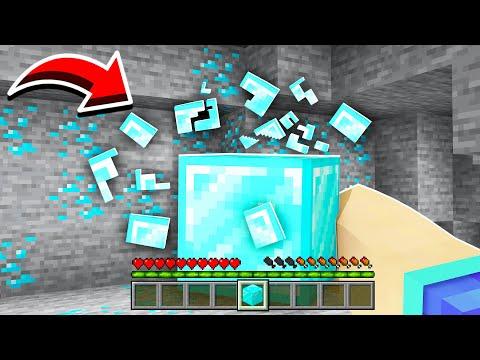 Minecraft MAIS je mange tous les blocs ! (super cheaté)
