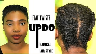 Gorgeous Flat Twists Updo Front Styles | Go Try it out