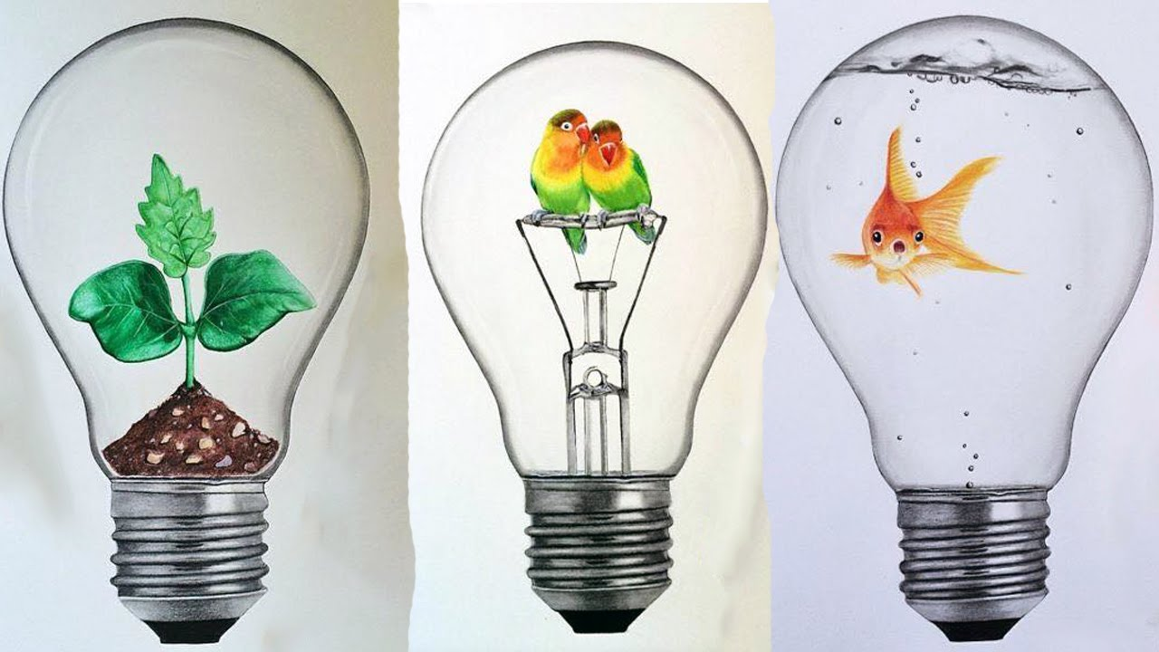 Interesting Idea In Bulbs Drawing By Roman