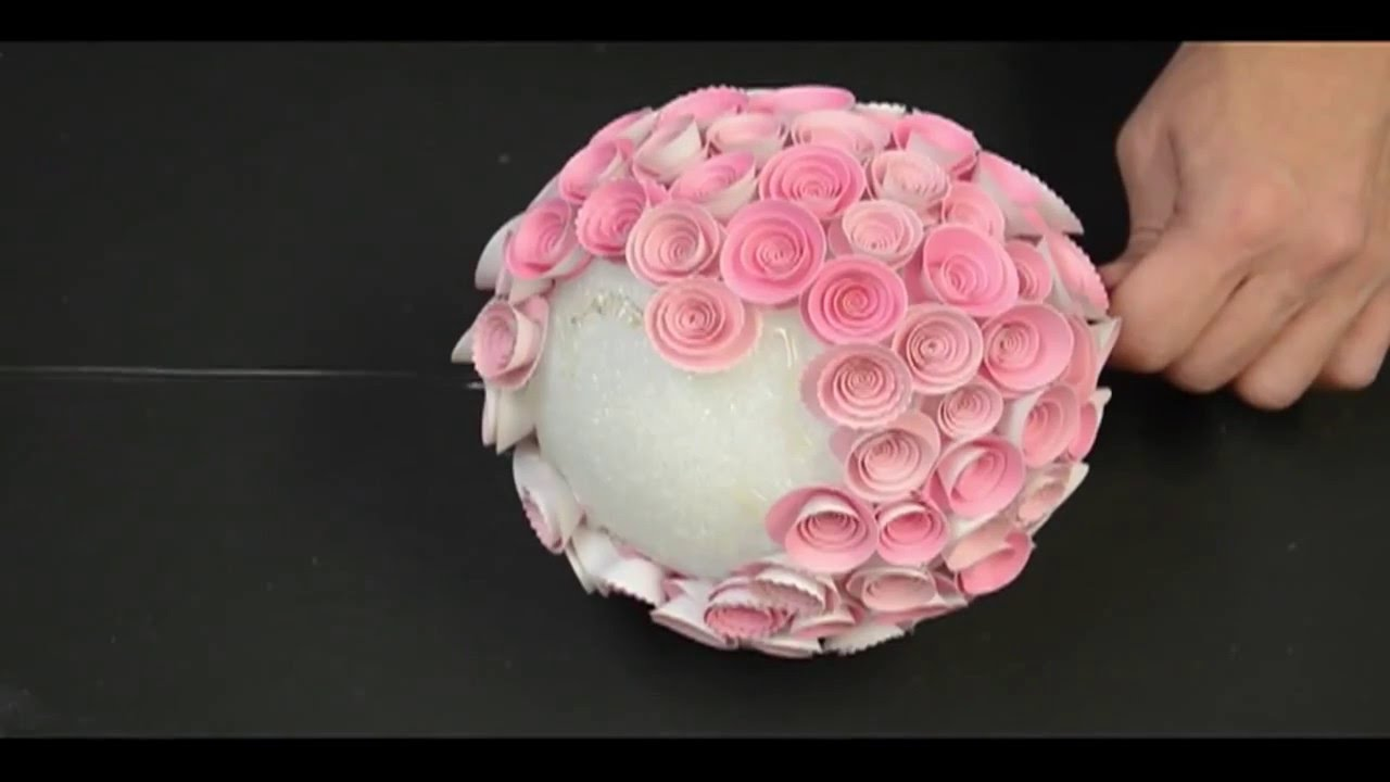 Memory box paper rose topiary making paper flower youtube memory box paper rose topiary making paper flower mightylinksfo