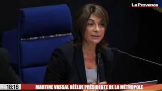 Martine Vassal (LR) réélue présidente de la Métropole Aix-Marseille-Provence