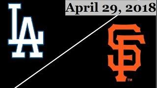 Los Angeles Dodgers vs San Francisco Giants Highlights || April 29, 2018