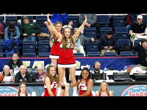 Fairfield Stags Cheer Team Performs At MAAC Men's Basketball Tournament - TUC - March 07, 2019