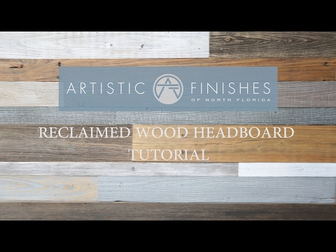 DIY How to make a Contemporary Reclaimed Wood Headboard by Artistic Finishes