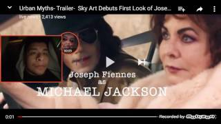 Joseph fiennes as Michael Jackson trailer Reaction 👹 WTF
