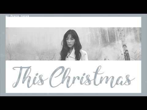 Free Download [karaoke/thaisub] Taeyeon - This Christmas #พีชซับไทย Mp3 dan Mp4