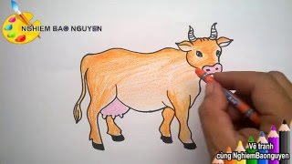 Vẽ con bò/How to Draw Cows