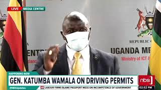 Gen. Katumba Wamala on driving permits | NBS Updates