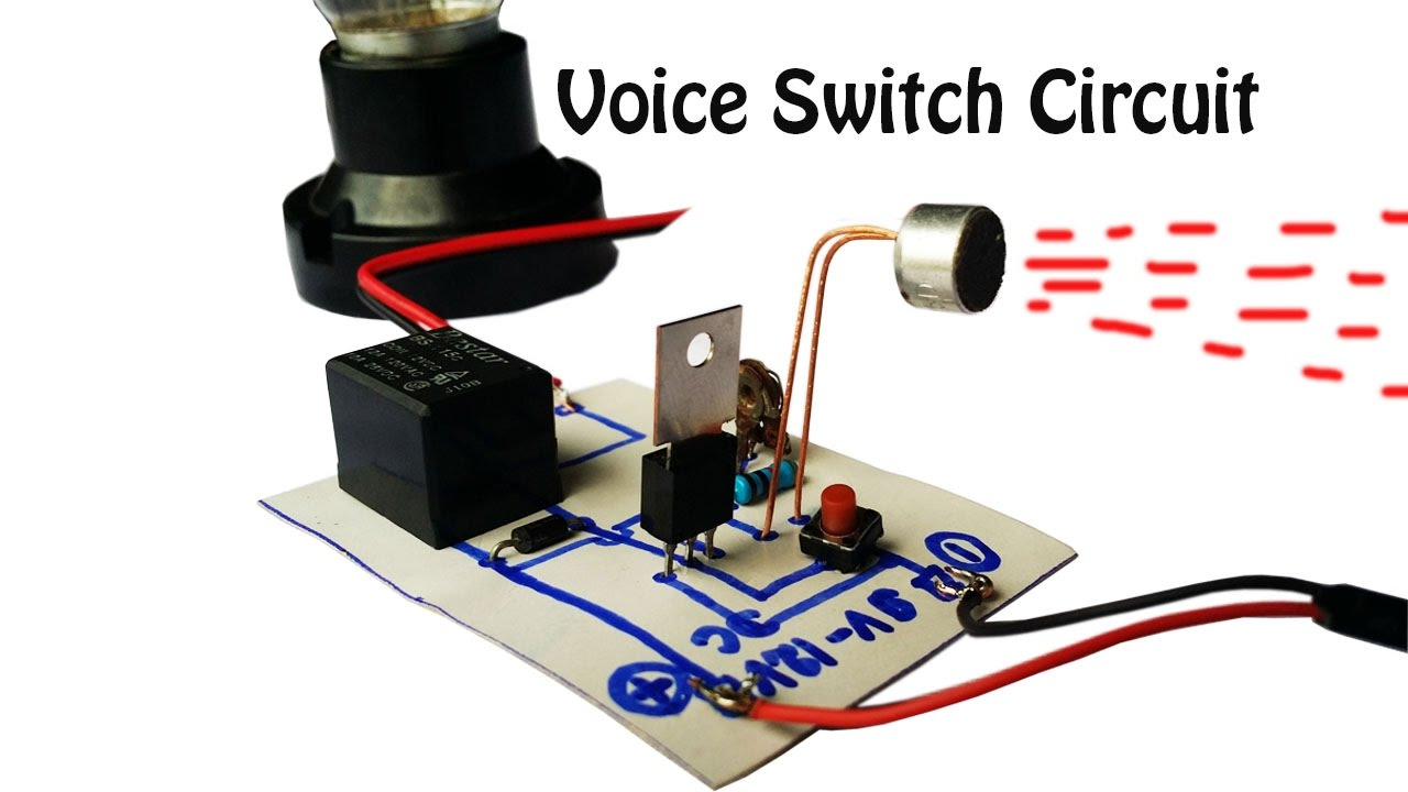 How To Make Automatic Switch On The Light By Voice Or Sounds Electric Circuit Diagram Video
