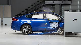 2017 Ford Fusion passenger-side small overlap IIHS crash test