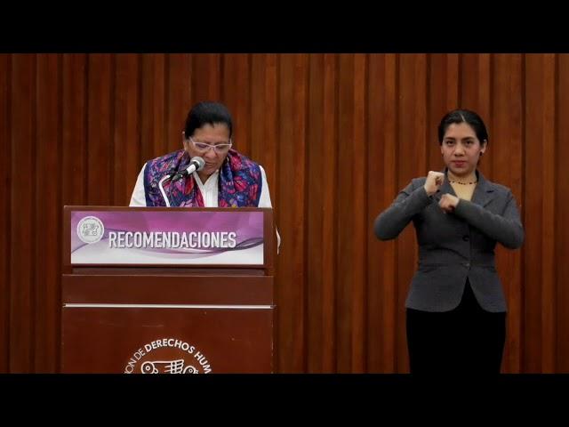 Discurso de la Presidenta de #CDHCM, Nashieli Ramírez, presentación de 9 Recomendaciones