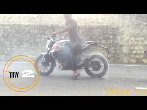 HOW TO DESTROY THE BIKE'S|TYRES| KTM DUKE 200 | BURNOUT