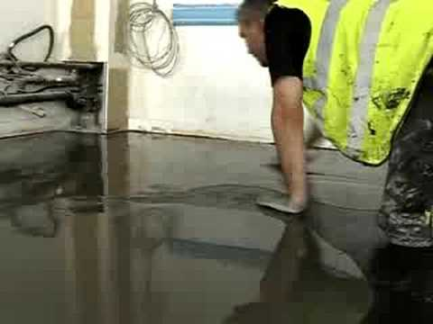 How To Screed A Floor >> Self Smoothing Floor Screed - YouTube