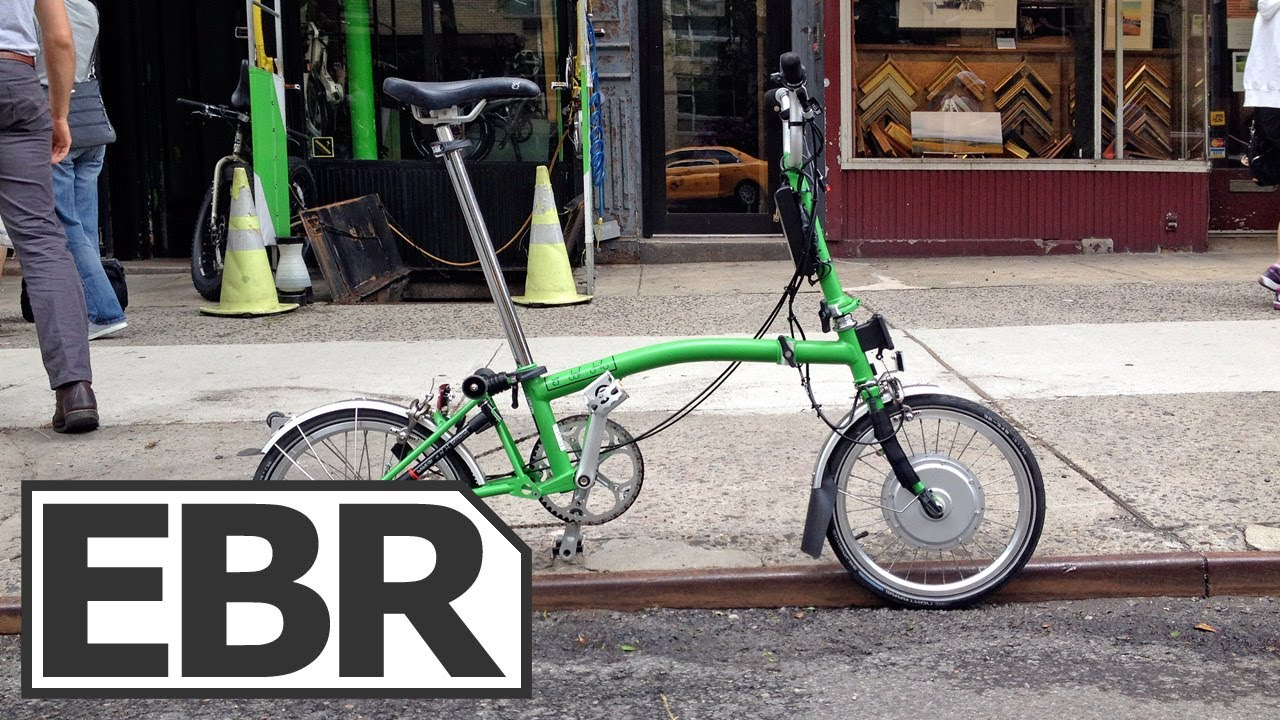 Electric Brompton Video Review - Custom Folding Electric Bike from NYCeWheels