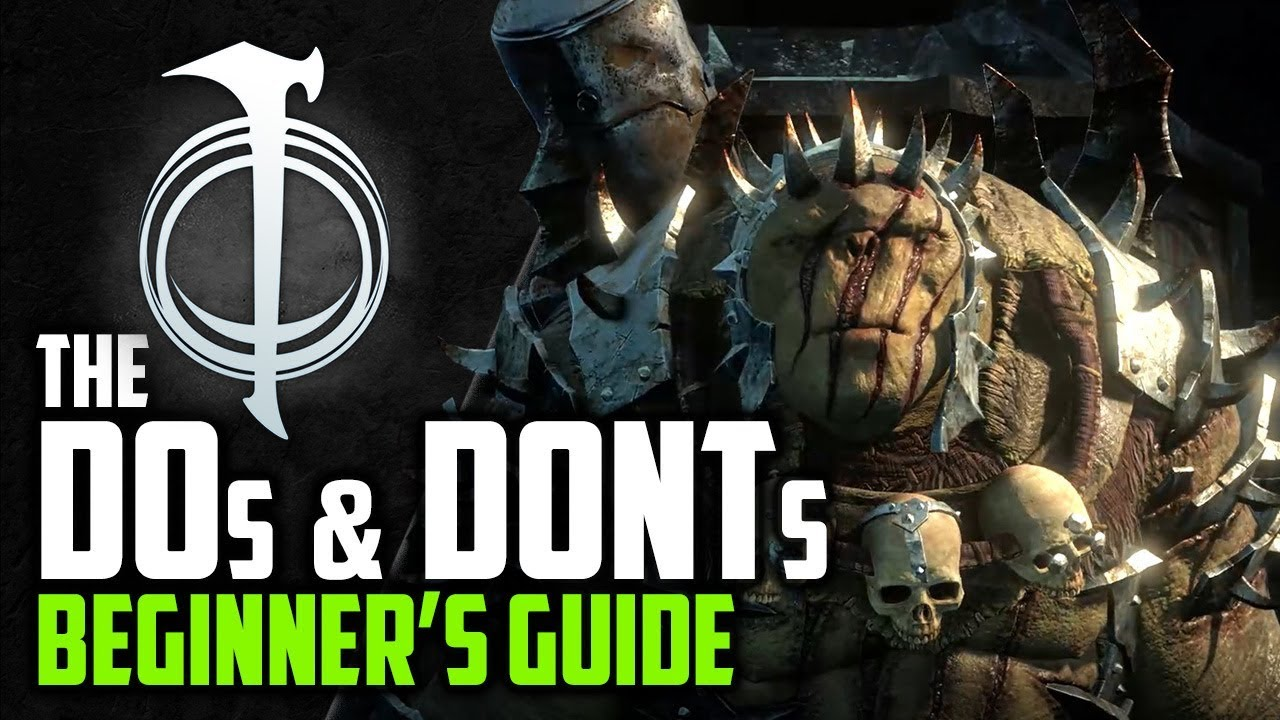 middle earth shadow of war beginners guide