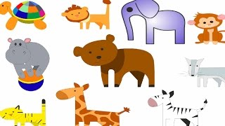 Животные для детей с паровозиком Бусинкой. Паровозик зоопарк. Развивающие мультики про машинки.