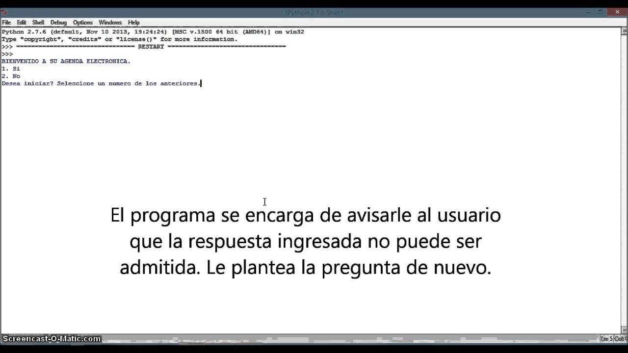 Agenda Electronica en Python - YouTube