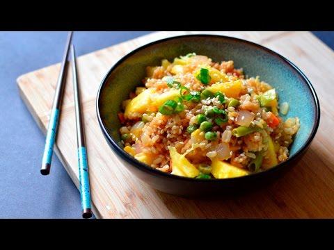 Vegan Pineapple Fried Rice - Hawaiian Asian Dinner