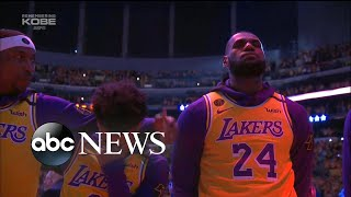 Emotional return to court for LA Lakers after Kobe Bryant's death