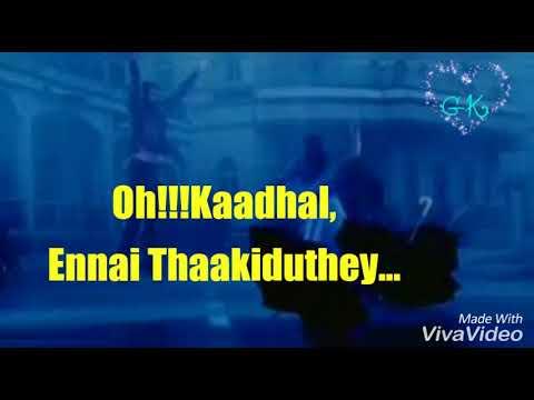 Unnai Kandane - Kadhal Kaditham lyrics in whatsapp status || Parijatham || GK