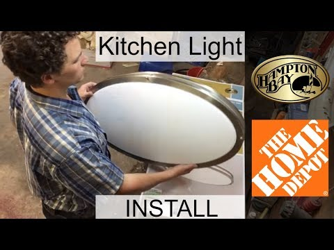 TG Replacing Fluorescent Kitchen Light with New LED Fixture