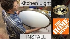 Replacing Fluorescent Kitchen Light with New LED Fixture