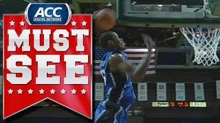 Duke's rodney hood finishes vicious alley-oop slam | acc must see moment